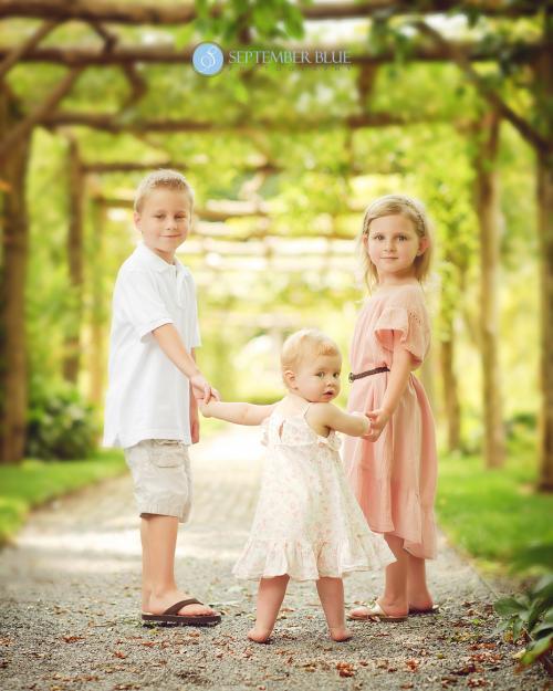 Children on a path